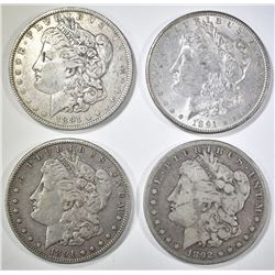 1891-P,O,S, 92 MORGAN DOLLARS