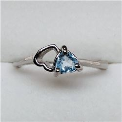 AQUAMARINE RING SIZE 6 3/4