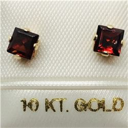 10K GARNET EARRINGS