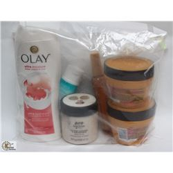 BAG OF LOREAL MOISTURIZING MASKS, OLAY ULTRA MOIST