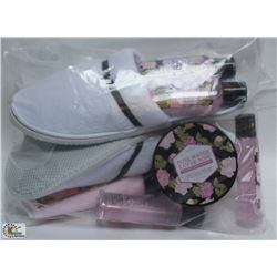 BAG OF ROSEWATER FOOT CREAM, FOOT WASH & PAIR