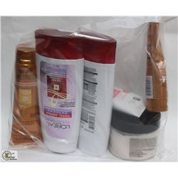 BAG WITH LOREAL HAIR CONDITIONER, BODY SCRUB BY