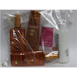 BAG OF LOREAL HAIR OIL & CREAM, SUGAR SCRUB,