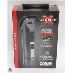 CONAIR MAX CUT CORDLESS HAIR CLIPPERS