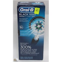 ORAL B BLACK 1000 RECHARGEABLE TOOTHBRUSH