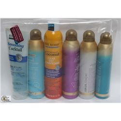 BAG OF ASSORTED DRY SHAMPOOS