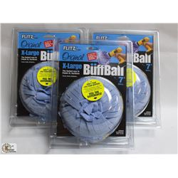 LOT OF 3 EXTRA LARGE BUFF BALLS