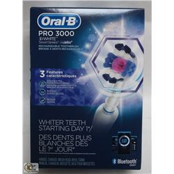 ORAL B PRO 3000 3D WHITE RECHARGEABLE TOOTHBRUSH