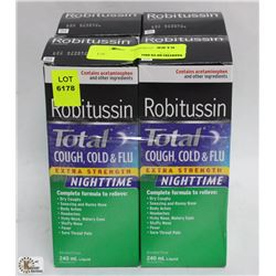 4 BOXES OF ROBITUSSIN COUGH COLD AND FLU NIGHTIME