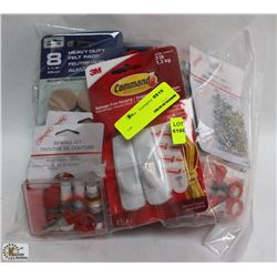 BOX OF ASSORTED HOUSEHOLD ITEMS INCL SAFETY PINS,
