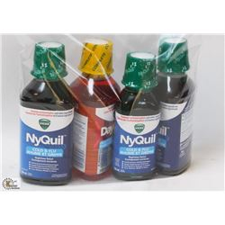 BAG WITH NYQUIL & DAYQUIL LIQUID