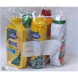 BAG OF ASSORTED ODOR CONTROL PRODUCTS