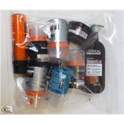 BAG OF ASSORTED MENS FACIAL PRODUCTS
