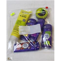 BAG OF ASSORTED SPEED STICK & MARC ANTOINE CURL