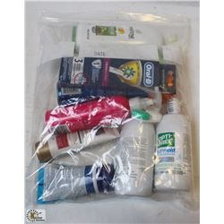 BAG OF ASSORTED HEALTH & BEAUTY PRODUCTS