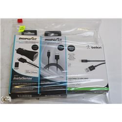BAG OF ISTORE LIGHTENING CABLES FOR APPLE DEVICES