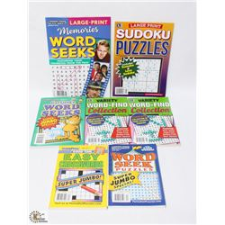 BAG OF ASSORTED ACTIVITY BOOKS