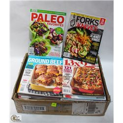 FLAT OF ASSORTED COOKING MAGAZINES