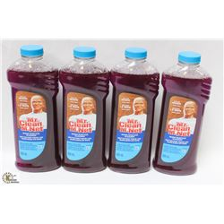 4 BOTTLES OF MR. CLEAN WOOD SURFACE CLEANER