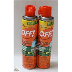 2 BOTTLES OF  OFF AREA BUG SPRAY YARD & DECK