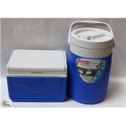 COLEMAN 1 GAL BEVERAGE COOLER WITH COLEMAN FLIPLID