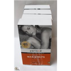 4 BOXES OF PARISSA SUPER PACK WAX STRIPS