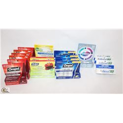 BAG OF ASSORTED ORAL PRODUCTS FOR MOUTH SORES