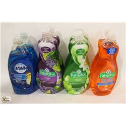 BAG OF ASSORTED DISH SOAP