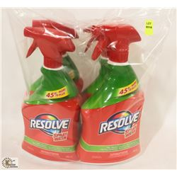 4 BOTTLES OF RESOLVE SPRAY AND WASH