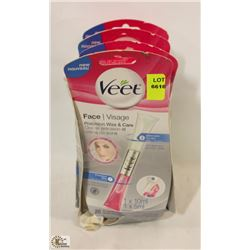 4 BOXES OF VEET FACE PRECISION WAX AND CARE
