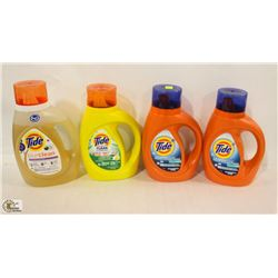 4 BOTTLES OF TIDE LAUNDRY DETERGENT