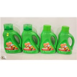 4 BOTTLES OF GAIN LAUNDRY DETERGENT