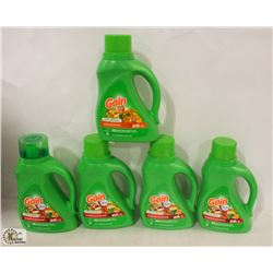 5 BOTTLES OF GAIN LAUNDRY DETERGENT
