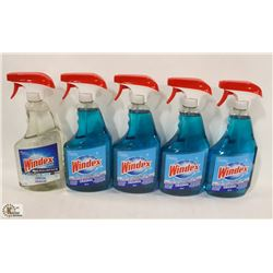 5 BOTTLES OF WINDEX