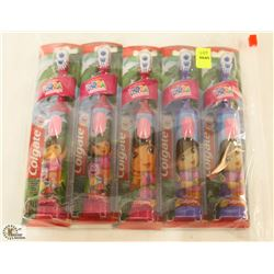 BAG OF DORA THE EXPLORER ELECTRIC TOOTH BRUSHES