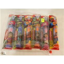 BAG OF ASSORTED ELECTRIC KIDS TOOTH BRUSHES
