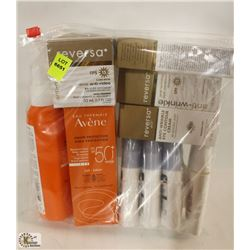 BAG OF ASSORTED SUNSCREEN INCL EYE CREAM WITH SPF