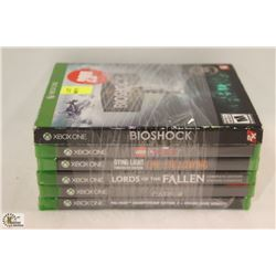 BUNDLE OF 6 XBOX ONE GAMES