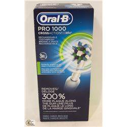 ORAL B PRO 1000 CROSS ACTION RECHARGEABLE