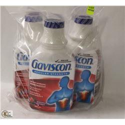 3 BOTTLES OF GAVISCON ACID REFLEX & INDIGESTION