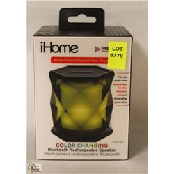 IHOME COLOR CHANGING BLUETOOTH RECHARGEABLE
