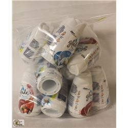 BAG OF ASSORTED SCENTED GLADE AIR FRESHENERS
