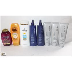 BAG OF ASSORTED HAIR CARE PRODUCTS