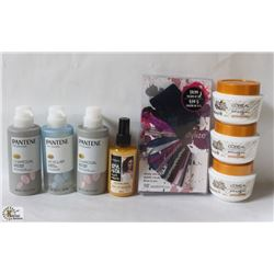 BAG OF ASSORTED HAIR CARE ITEMS