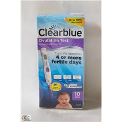 PACK OF 10 CLEAR BLUE OVULATION TESTS