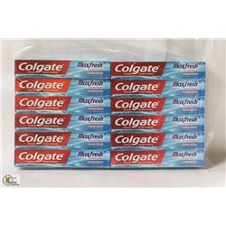 BAG OF 12 COLGATE MAXFRESH TOOTHPASTE