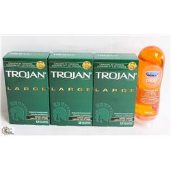 BAG W/ TROJAN CONDOMS AND MORE