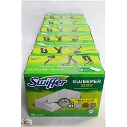 LOT OF 6 SWIFFER SWEEP DRY CLOTHS