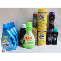 FLAT OF ASSORTED CLEANING PRODUCTS INCL LYSOL