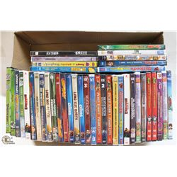 FLAT OF CHILDRENS DVDS